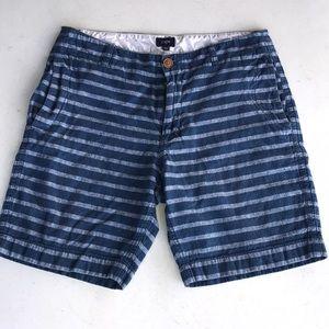 J. Crew, striped, casual walk shorts